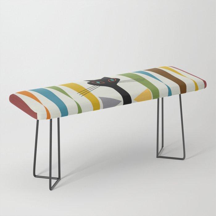 Mid-Century Modern Art Cat 2 Bench
