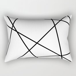 Lines in Chaos II - White Rectangular Pillow