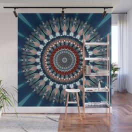 Festive Winter Night Mandala Wall Mural