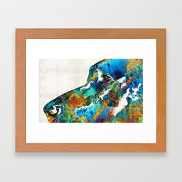Colorful Dog Art - Loving Eyes - By Sharon Cummings Framed Art Print