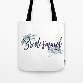 Bridesmaid Watercolour Tote Bag