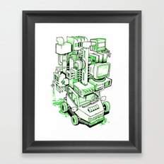 Green Machine Car Framed Art Print