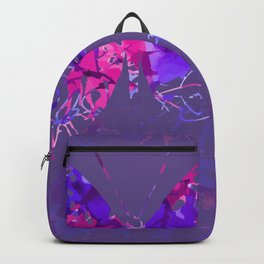Violet butterfly design Backpack