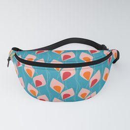 Climbing Vines Pearl Teal Fanny Pack