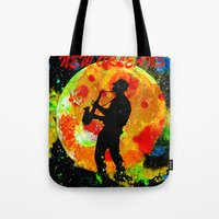 new orleans Tote Bags featuring New Orleans  by Saundra Myles