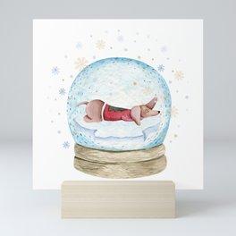 Dog Snow Globe (3) Mini Art Print