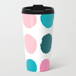 Hugo - abstract modern color palette gender neutral baby nursery dorm college art Travel Mug