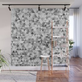 Grey triangle pattern Wall Mural