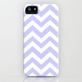 Lavender blue - grey color - Zigzag Chevron Pattern iPhone Case