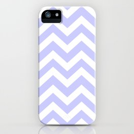 Lavender blue - grey color - Zigzag Chevron Pattern iPhone Case