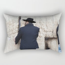 Prayer at the wall Rectangular Pillow