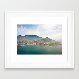 Cape Town aerial view Framed Art Print