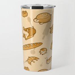 Live, Laugh, Loaf Pattern Travel Mug