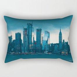 New York City Cityscape (Color) Rectangular Pillow