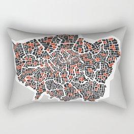 London Boroughs Abstract Map Rectangular Pillow