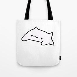 Bongo Cat Meme Tote Bag
