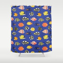 Exotic School Of Reef Fish Shower Curtain