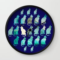 mineral Wall Clocks featuring MINERAL CATTERN by Catspaws