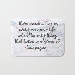 Champagne love Bath Mat