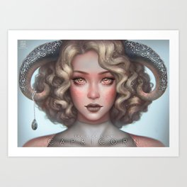 Capricorn - The Star Sign Art Print