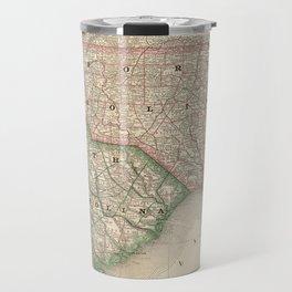 Vintage Map of The Carolinas (1879) Travel Mug