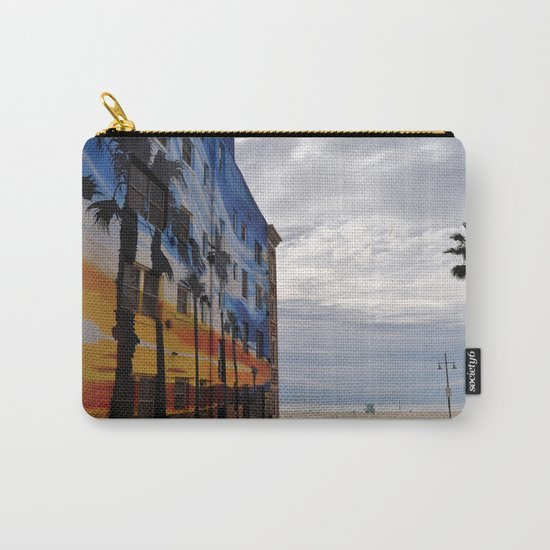 Venice Tropical Mural Carry-All Pouch