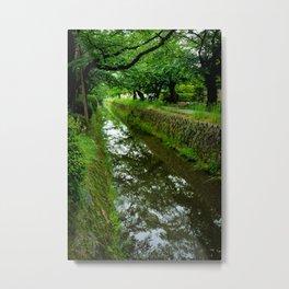 Kyoto Canal I Metal Print