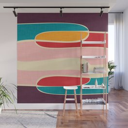Wondering Waves #homedecor #midcenturydecor Wall Mural