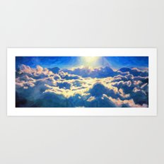 Over The Clouds - Painting Style Art Print