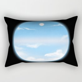 World Within Me - Blue Rectangular Pillow