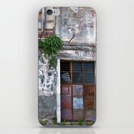 Old Sicilian facade of Taormina iPhone Skin