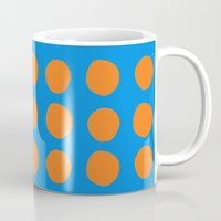 polka Mugs featuring Polka  by Ruth Shaffer Art and Designs