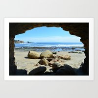 frame Art Prints featuring Frame by Monica Ortel ❖