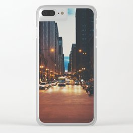 the streets of Chicago ... Clear iPhone Case