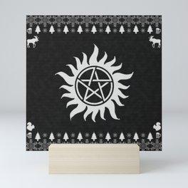 Supernatural Holiday Sweater Mini Art Print