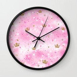 Pink Princess Wall Clock