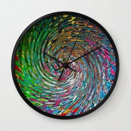 Vortex of Colours Wall Clock