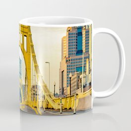 Pittsburgh Steel City Bridge Print Coffee Mug