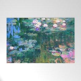 water lilies : Monet Welcome Mat