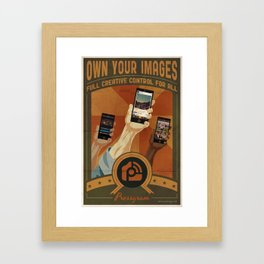 Pressgram Propaganda Poster Framed Art Print