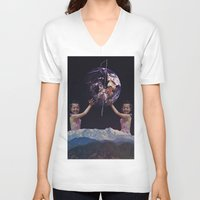 equality V-neck T-shirts featuring 'Equality' by Thom Easton