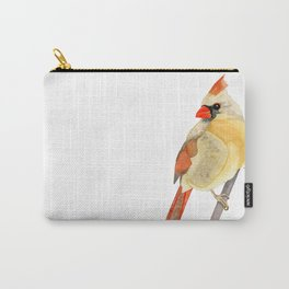 FEMALE CARDINAL - WATERCOLOR PAINTING Carry-All Pouch