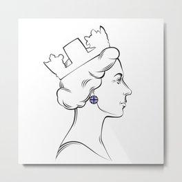 Portrait of Queen Elizabeth II Metal Print