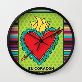 El Corazon Wall Clock