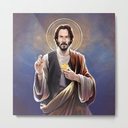 Saint Keanu of Reeves Metal Print