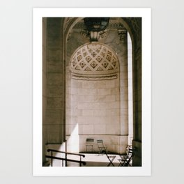 Alcove New York Public Library Art Print