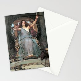John William Waterhouse - Circe Offering the Cup to Ulysses Stationery Cards