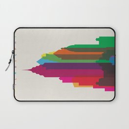 Shapes of Philadelphia accurate to scale Laptop Sleeve