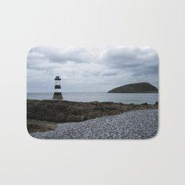 Trwyn Du Lighthouse And Puffin Island Bath Mat