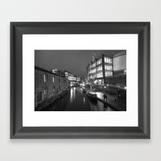 Broad St Reflections Framed Art Print